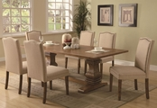 Parkins Coffee Wood Dining Table Set