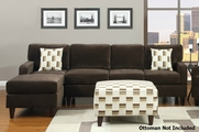 Perla Chocolate Sectional Sofa