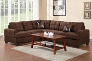 Pershing Chocolate Fabric Sectional Sofa