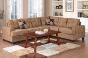 Pershing Saddle Fabric Sectional Sofa