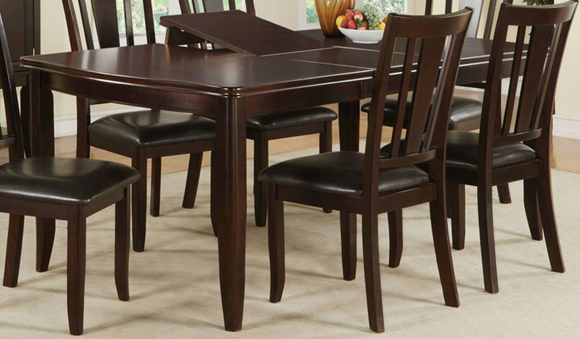 poundex f2179 brown wood dining table steal a sofa