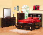 Phoenix Deep Cappuccino Wood Eastern King Bed Set