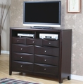 Brown Wood Media Chest