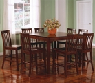 Pines Walnut Wood Pub Table Set
