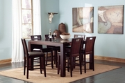 Prewitt Deep Espresso Wood Pub Table Set
