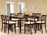 Pryor Cappuccino Wood Pub Table Set