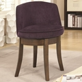 Purple Fabric Accent Chair