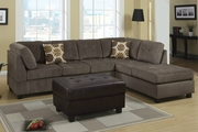 Radford Ash Reversible Microfiber Sectional Sofa