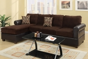 Radley Chocolate Microsuede Sectional Sofa