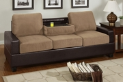 Raelyn Saddle Microfiber Sofa
