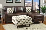 Ralston Reversible Mahogany Sectional Sofa