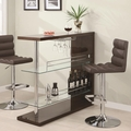 Brown Glass Bar Table