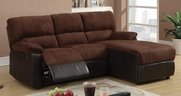 Chocolate Microfiber Sectional Sofa