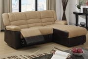 Hazelnut Fabric Sectional Sofa