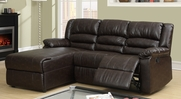 Coffee Leather Sectional Sofa