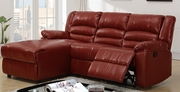 Red Leather Sectional Sofa