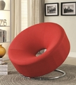 Red Fabric Accent Chair