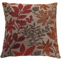 Red Fabric Accent Pillow