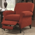 Red Fabric Reclining Chair