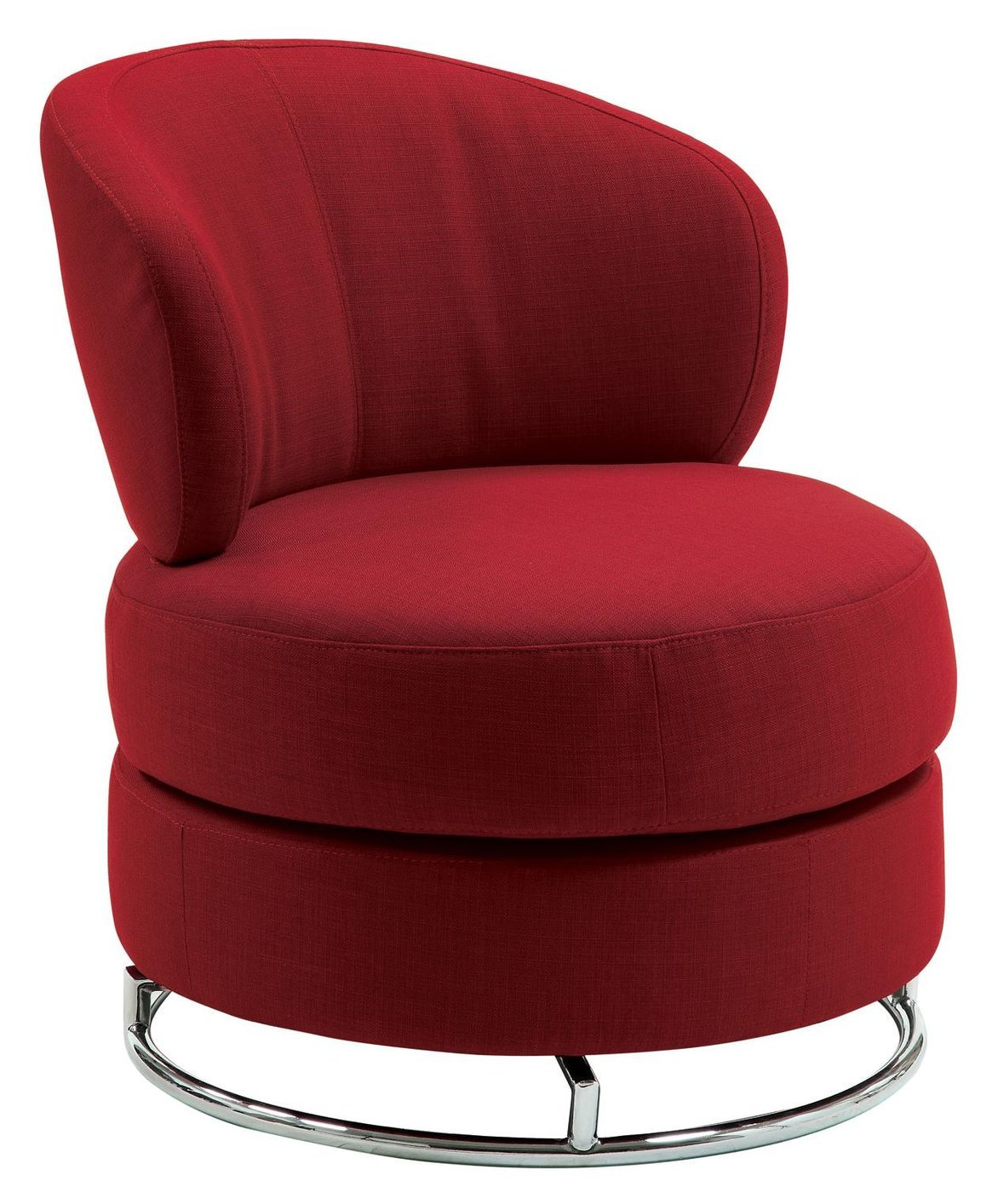 Coaster 902104 Red Fabric Swivel Chair