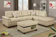 Reese Khaki Leather Sectional Sofa