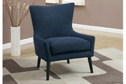 Remus Blue Fabric Accent Chair