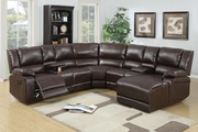 Reno Brown Leather Reclining Sectional