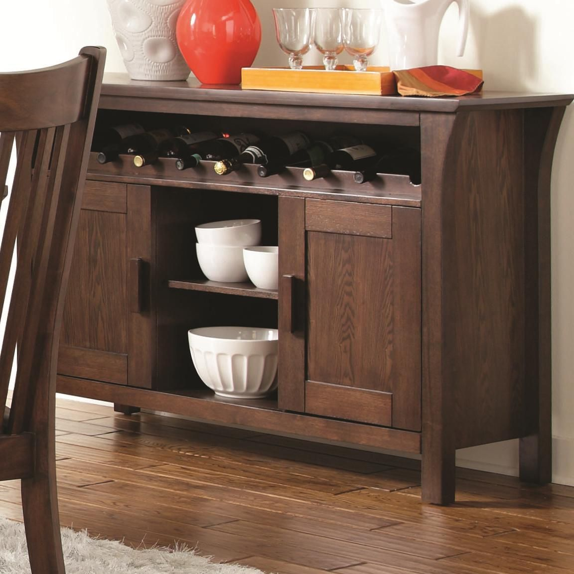 Coaster Rivera 103645 Brown Wood Buffet Table In Los  : rivera dark merlot wood buffet table 5 from www.stealasofa.com size 1152 x 1152 jpeg 134kB