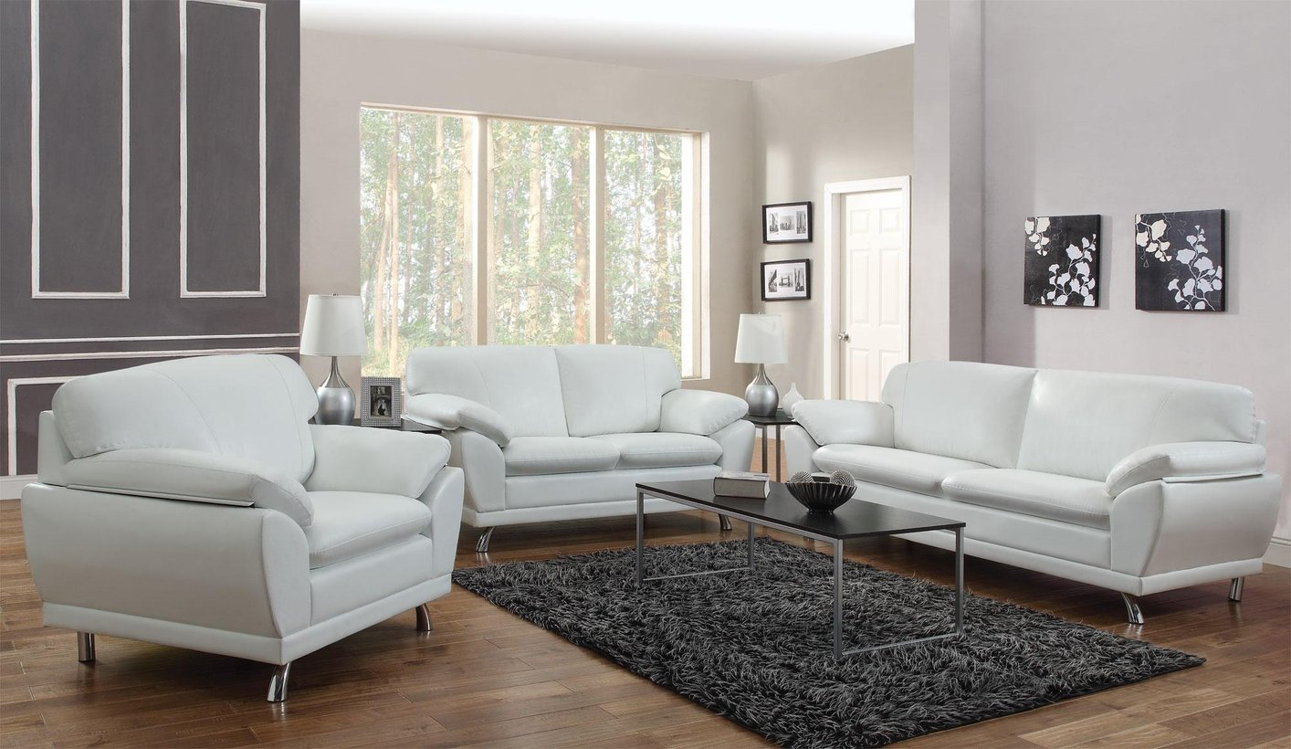 Robyn White Leather Loveseat. Coaster Robyn 504542 White Leather Loveseat   Steal A Sofa
