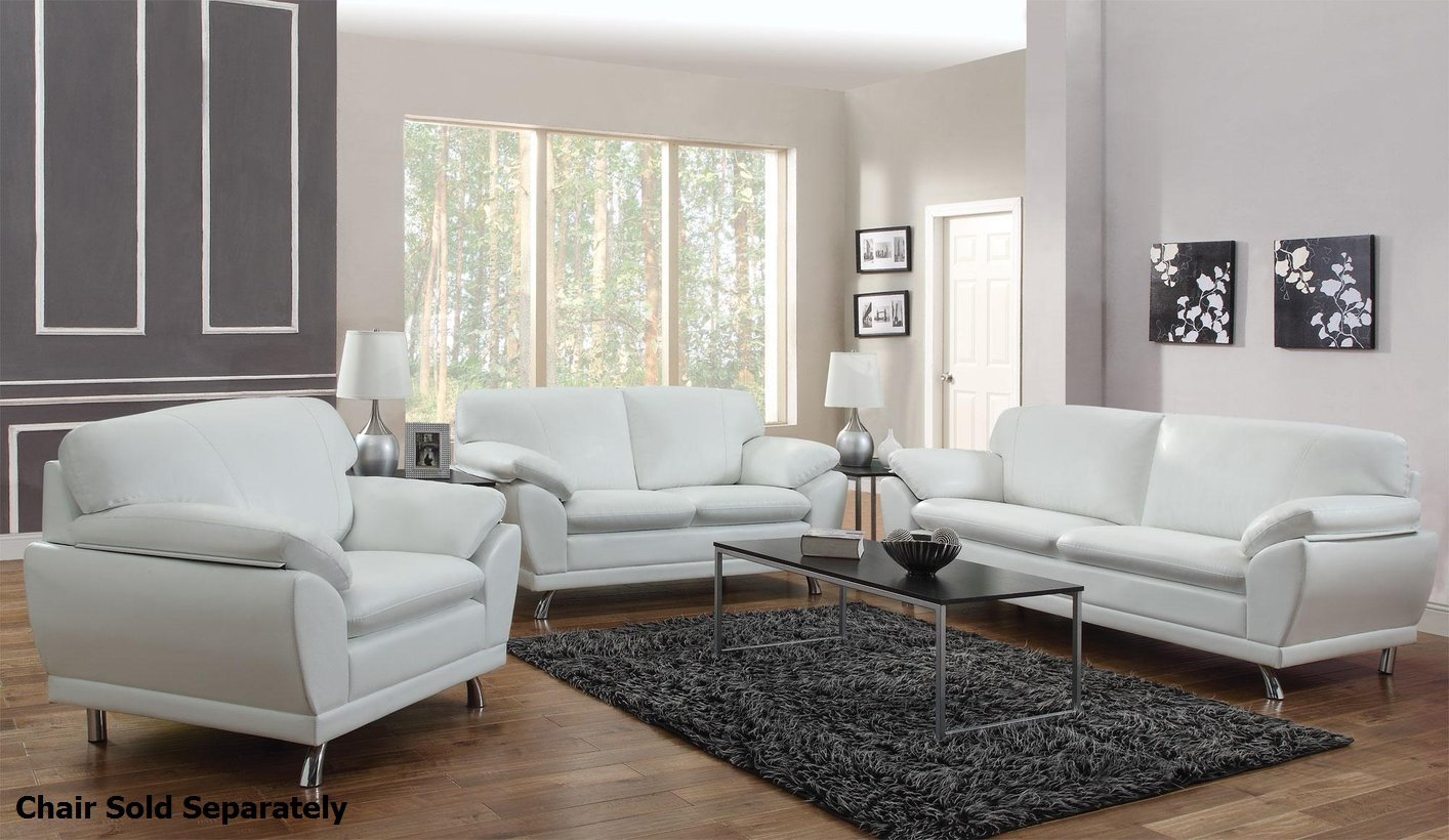 robyn white leather sofa and loveseat set