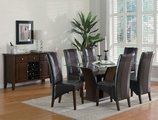 Rodeo Cherry Wood And Glass Dining Table Set