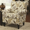 Rosalie Brown Fabric Accent Chair