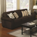 Rosalie Brown Fabric Sofa
