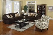 Rosalie Brown Fabric Sofa and Loveseat Set