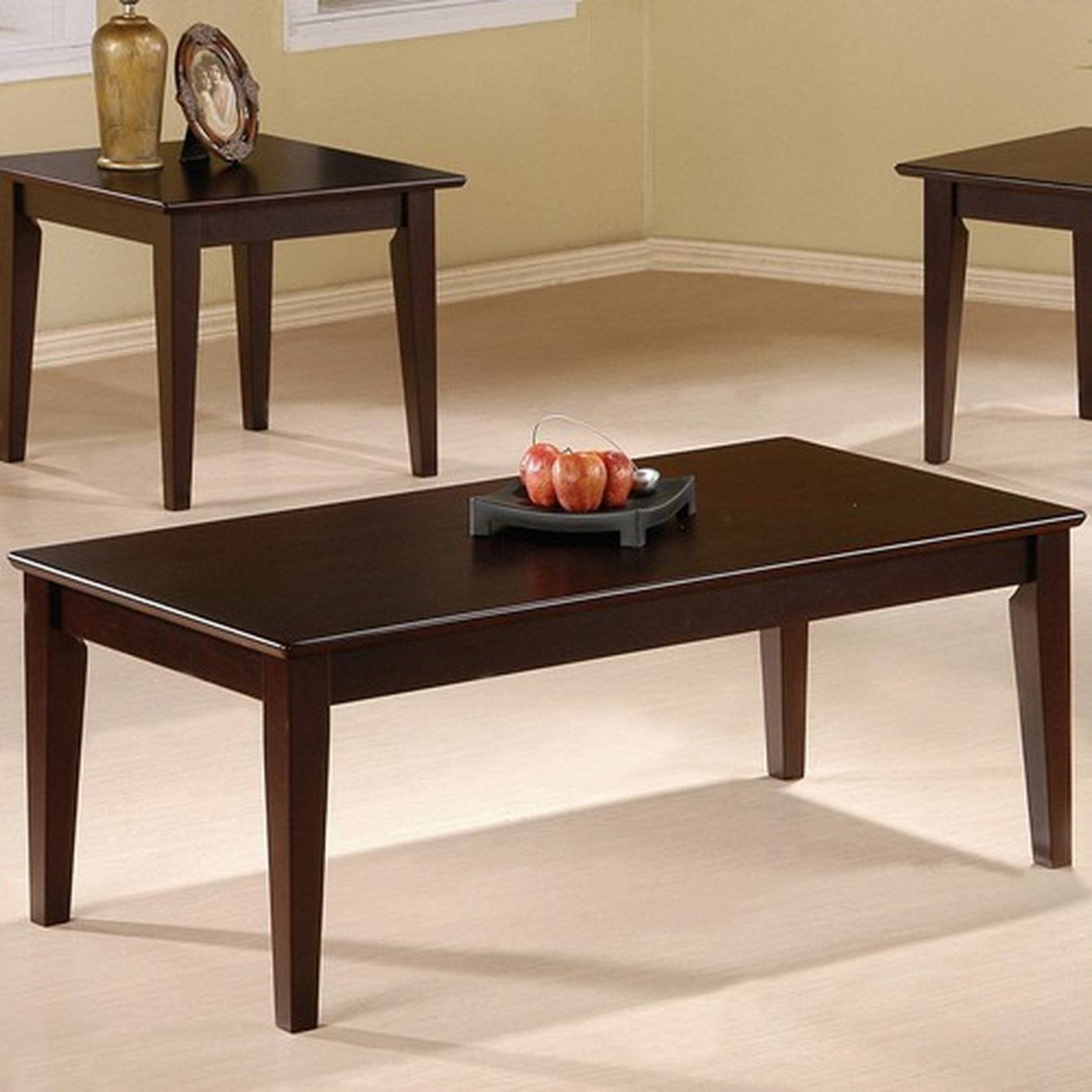 Coaster Rupard 5880 Brown Wood Coffee Table Set