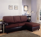 Rupard Brown Fabric Sectional Sofa