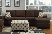 Sabela Chocolate Sectional Sofa