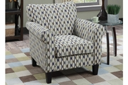 Sai White Fabric Accent Chair