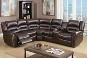 Saltan Brown Leather Reclining Sectional