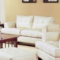 Samuel Beige Leather Loveseat