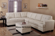 Samuel Cream Sectional Sofa with Armless Chair