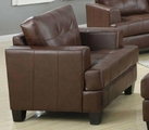 Samuel Brown Leather Chair