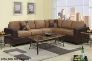 Playa Brown Fabric Sectional Sofa