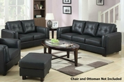 Sawyer Black Sofa and Loveseat Set