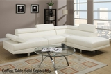 Jezebel White Metal Sectional Sofa