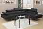 Jezebel Black Metal Sectional Sofa