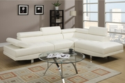 Jezebel Cream Leather Sectional Sofa