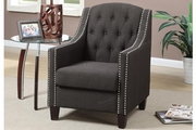Sentil Black Fabric Accent Chair