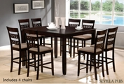 Sevilla Cappuccino Wood Pub Table Set