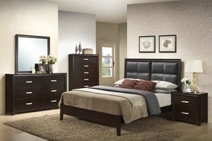 Shane Queen Bed, Dresser, Mirror and One Nightstand
